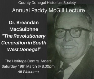 Paddy McGill lecture